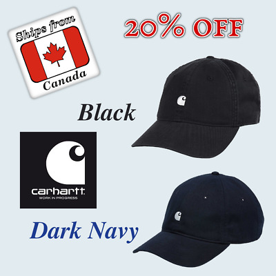 Carhartt WIP — Madison Cap (Black or Dark Navy), One-Size, 8.7oz rinsed cotton