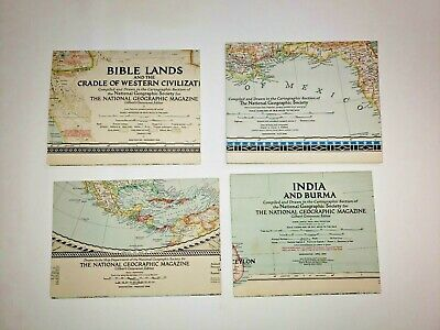 Complete Set 1946 year National Geographic MAP SUPPLEMENTS 4 Maps EUC Lot