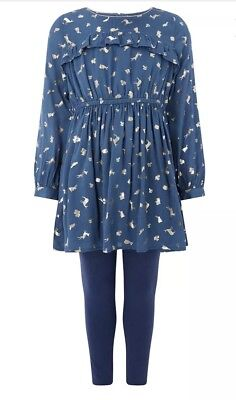 Girls Monsoon Tunic & Leggings Outfit SIZE 4yrs New With Tags rrp£34