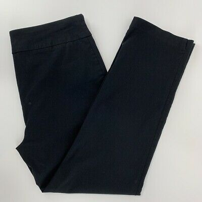 Counterparts Womens Pull On Black Stretch Trouser Career Pants Size 10
