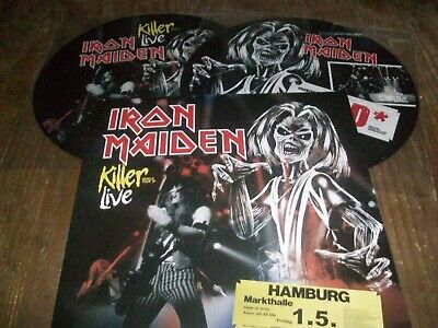 Iron Maiden Rare 2 Pictures Killer Live World Tour 81