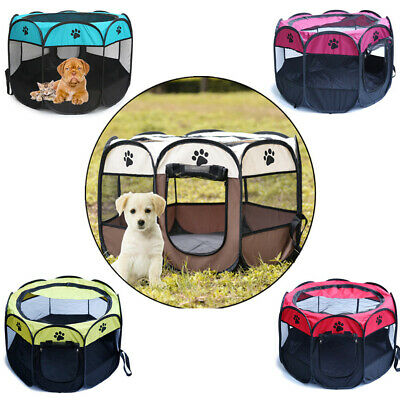 Foldable Pet Exercise Kennel Dog Run Puppy Cat Playpen Cage Pet Delivery Room BE