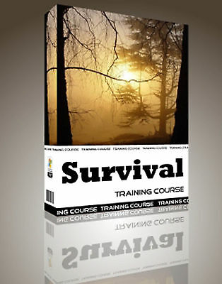 Bushcraft Survival Hunting Knife Winter Summer Hot Cold Training Course CD Book