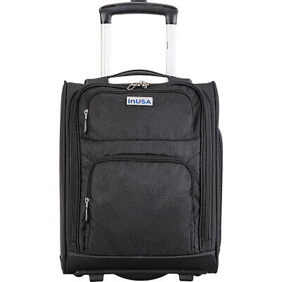 """inUSA Luggage Underseat Rolling Ultra-Light 15"""" Spinner Softside Carry-On NEW"""