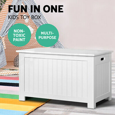 Large Capacity Cabinet Toy Box Storage Chest Children Organiser Container White