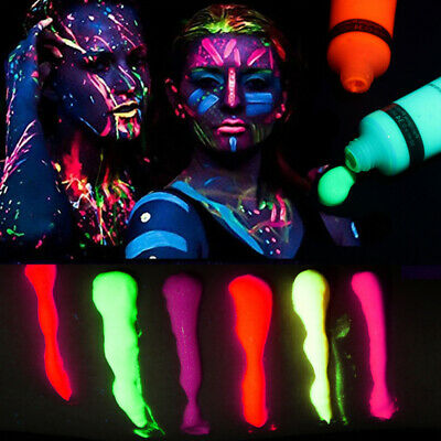 2X(Dark Glowing Body Paint Body&Face Illuminated Backlit Neon Color Fluores3J1)