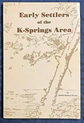CHELSEA, ALABAMA, Early Settlers of the K-Springs Area, Genealogy, SHELBY COUNTY