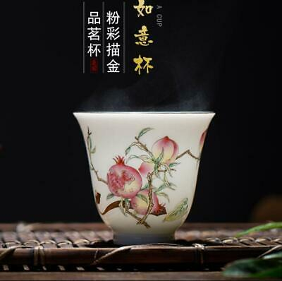 Chinese jingdezhen Porcelain ceramic famille rose painting Pomegranate tea cup