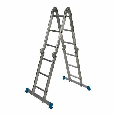 Silverline 953474 3.6m 12-Tread Multipurpose Ladder with Platform