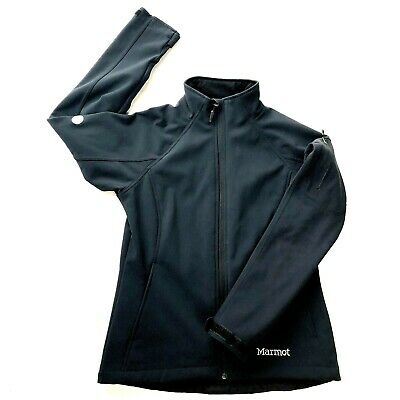 Marmot Gravity Jacket Black Soft Shell  Water Resistant Breathable Womens Small
