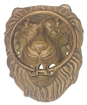 Cast Iron Heavy Lions Head Vintage Door Knocker Lion Home Art Decor