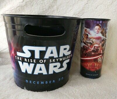 Star Wars The Rise of Skywalker Movie Theater Exclusive 44oz Cup &Popcorn Bucket