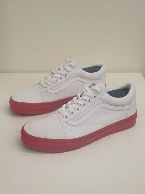 Unisex Vans Old Skool MLX Canvas Shoes True White Formula 1 VN0A31Z9KN2 UK 7.5