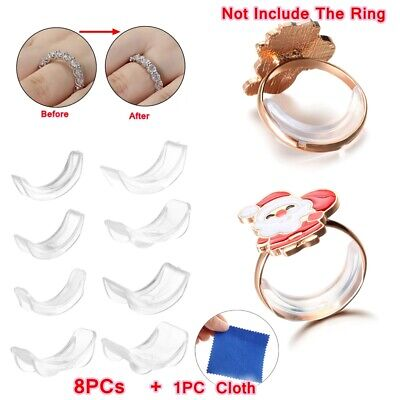 Jewelry Transparent Resizing Tools Reducer Ring Size Adjuster Set Adjuster Pad