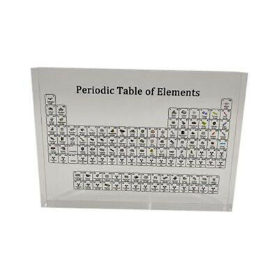 Acrylic Periodic Table Display W/ Elements Teaching Student Gift Desk Ornament