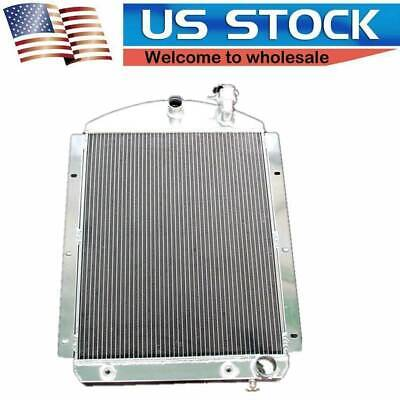 3 Rows Aluminum Radiator Fit 41-46 Chevy Pickup Truck Small Block Chevy Outlets