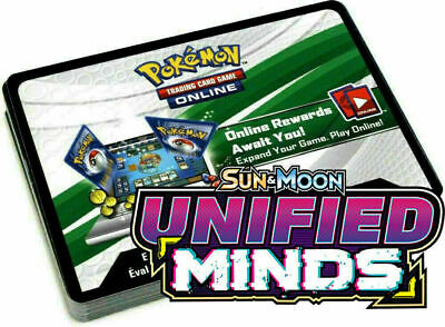 50x Unified Minds Unused Pokemon Online Booster Codes In Hand Sent Fast