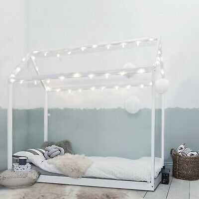 Single Bed Kids Bed Scandinavian House Frame in Colours
