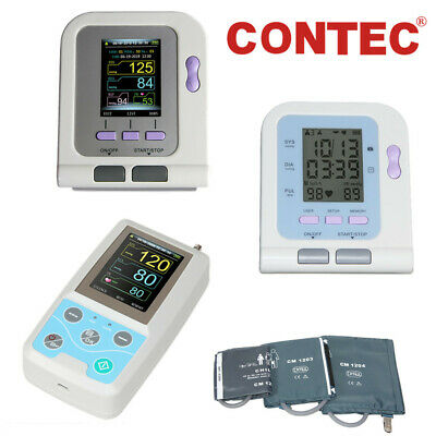 CONTEC Blood Pressure Monitor NIBP machine,Adult/Pediatric Cuffs, SpO2 Probe, SW