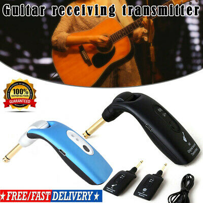 2.4GHz Wireless Guitar System Transmitter & Receiver Built-in Rechargeable 2019!