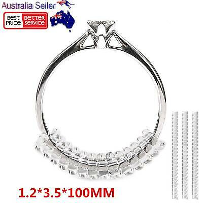 12Pcs Ring Size Adjuster Spiral Invisible Snugs Guard Resizer Adjusters Tools AU