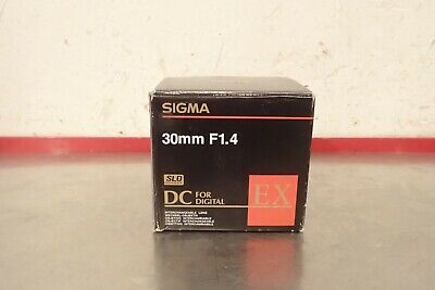Sigma 30mm F1.4 1.4 Digital Lens Sony D-Mount D Mount DC EX