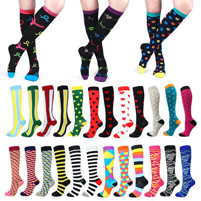 1Pair Support Calf Medical Compression Women Socks Mens Running Sports Stockings