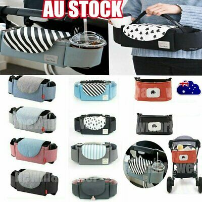 Baby Organiser Cup  Holder Mummy Bag Storage Buggy Stroller Pram Pushchair XD
