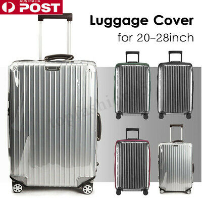 Clear PVC Elastic Luggage Cover Suitcase Dustproof Case Protector 20-28INCH AU