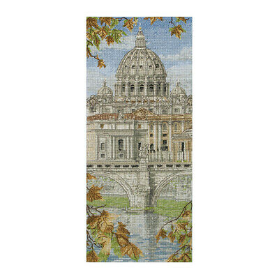 ANCHOR | Counted Cross Stitch Kit: St Peters Basilica - Wall Hanging | PCE0815