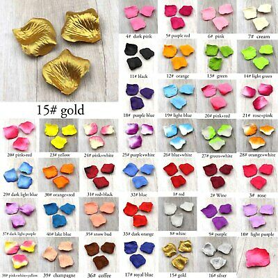 200-2000 Count 40 Colors Artificial Flowers Silk Rose Petals for Romantic Night