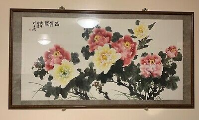 Antique Chinese Watercolor Painting Scroll -