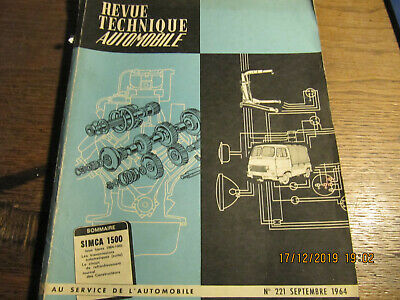 Revue techinique automobile N°221 Septembre 1964