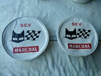 2 HOUSSES DE PHARES MARCHAL/HEADLIGHT .PROTECTION. DIAMETRE 20/21 cmts occasion