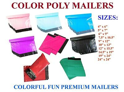 Poly Mailers Plastic Envelopes Shipping Bags Empire Mailers 2.5Mil Color Premium