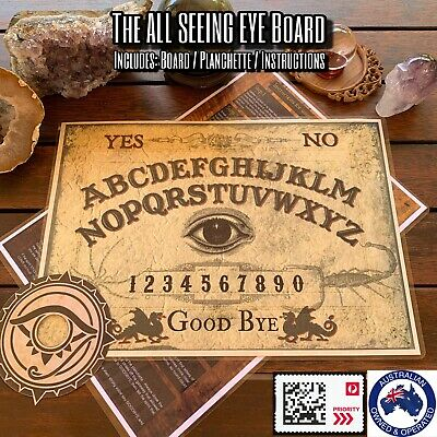 Ouija Board With Planchette & Instructions (Laminated Card) ALL SEEING EYE Board
