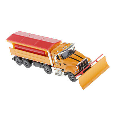 1/50 Scale Simulated Alloy Snow Plow Car Truck Model Diecast Vehicle Kids Toy