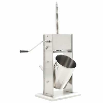 10L Sausage Stuffer Meat Maker Machine with 3 Nozzles Vertical Stainless Steel
