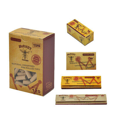 Hornet Natural Rolling Rolls 1 1/4 King Size Rolling Papers Mouth Ppaer Tips Set