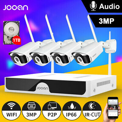 JOOAN 8CH HD 1080P NVR  WIFI Camera CCTV Outdoor Wireless Security Camera System