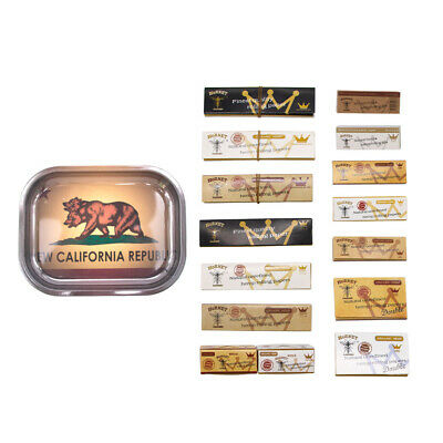 HORNET Natural King Size Rolling Papers Rolled Rolling Paper Tips Metal Tray Kit