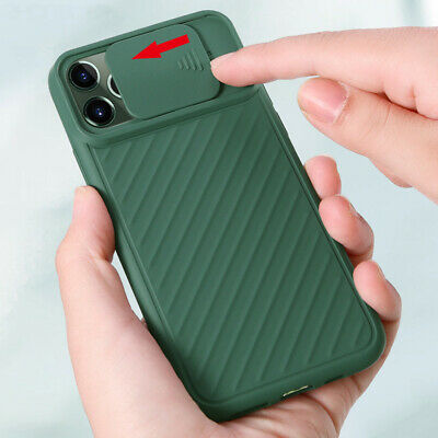 For iPhone 11 Pro Max XS XR X 8 7 6 Plus Camera Protection Slide Case Soft Cover