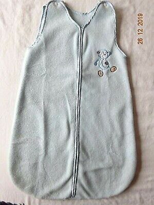 Patch Baby Boy Cot Fleece Cosy Suit Sleeping Bag Blanket Age 0-3 Months - Blue