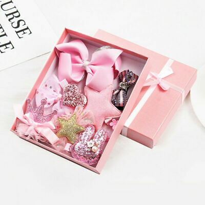 Cute Kids Girls Hairpin Princess Crown Bow Barrette Bobby Pin Hair Clips Gifts