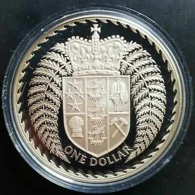 1979 New Zealand Dollar $1 SILVER Proof (in Mint Capsule).....