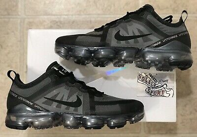 New Nike Air Vapormax 2019 Running Shoes Triple Black AR6631 004 Plus 720 Mens
