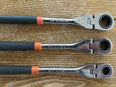 MATCO Tools Flex Ratchet Wrenches 10mm, 12mm, and 13mm with soft grip