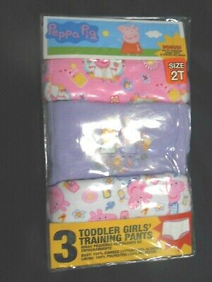 Peppa Pig Toddler Girls Training Pants Sz 2T NEW