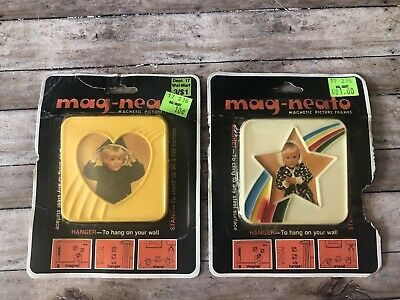 Set Of Two Mag-neato Vintage Picture Frames NOS
