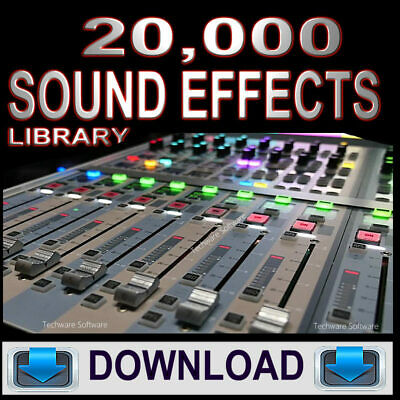 Over 20,000 Sound Effects - Complete Collection - Mp3 Wav Digital Audio Format